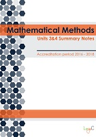 2017 Summary Notes for Mathematical Methods Units 3 & 4
