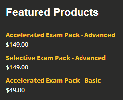 Spectrum Tuition - selective and accelerated exam packs