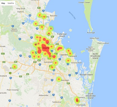 Heatmap - Brisbane Best High School Ratings